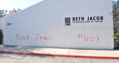 Orange County Synagogue Vandalized With Anti-Semitic Graffiti